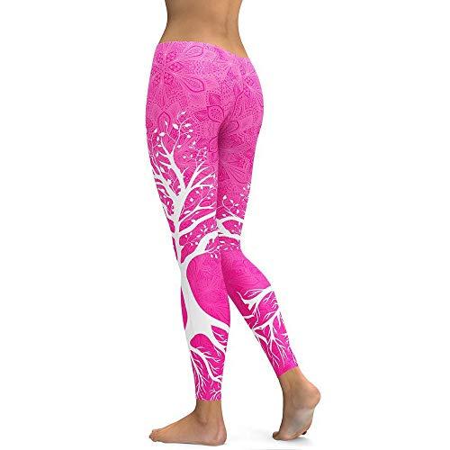 MEIbax Leggings Deportes Pantalones Mujeres Planta