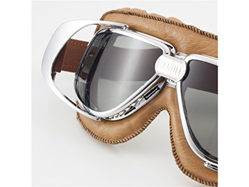 Bandit Motorradbrille braun mit getönten Gläsern