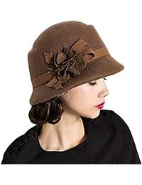 HaiDean Gorras Sombrero De Campana Flores Señoras Invierno De De Modernas  Casual Otoño Sombreros De La 783db1c0bbf