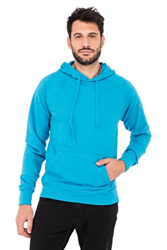 Fruit of the Loom Herren Kapuzenpullover Lightweight Hooded Sweat Türkis (Azure Blue Zu)