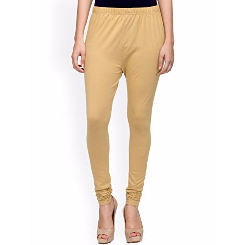 Rooliums ® (Brand Factory Outlet) Women's Premium Cotton Lycra Leggings 160 GSM Beige (Pack Of 1) - FREE SIZE
