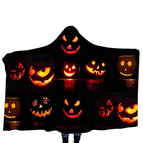 Paar Und Indianer Cowgirl Kostüm - INLLADDY Cape KostüM Kinderdecke Pumpkin/Skelett Printing Kapuzendecke Home Decke Kinderdecke Schal Halloween Cosplay Costume F 135cm-175cm
