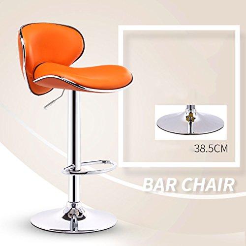 GJM Shop tabouret pivotant à 360 ° réglable en hau Extérieur En Similicuir Européen + Éponge Haute Résistance Châssis De 38,5 Cm Chaise De Bar La Mode Tabouret De Bar Chaise Réglable De Swive De Levage De Gaz Chaise Pivotante Chaise Longue Tabouret Haut --- Sponge + Leatherette / surface de chaise en bo ( Couleur : 9 )