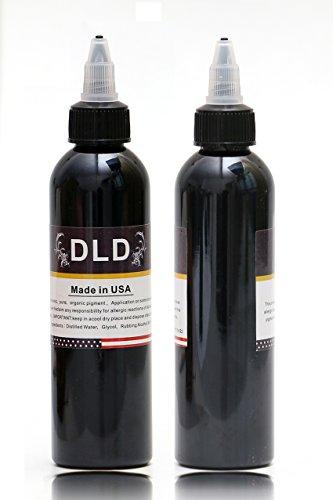 Professional 1 Flasche BAODELI - Tinte für Lining und Shading Neuester Tribal Liner Shader Pigment sehr schwarz 120 ml Neues hochwertiges Permanent Make-up