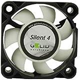 GELID SOLUTIONS Silent 4 de 3 Pines | Ventilador de 40mm para Cajas de PC estándar | Operación silenciosa | Aspas del Ventila