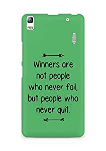 AMEZ but people who never quit Back Cover For Lenovo A7000