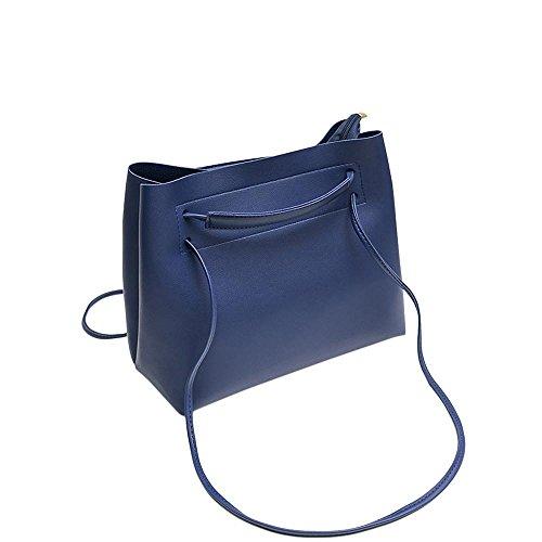 180c8b04712695 Damen Handtaschen, Huhu833 Mode Frauen Leder Umhängetasche Schultertasche  Handtasche Totes Eimer Tasche Blau