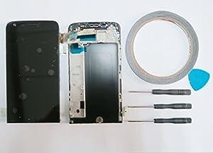 For LG G5 H850 LCD Display Bildschirm TouchScreen Scheibe Rahmen schwarz+Werkzeug & Klebeband