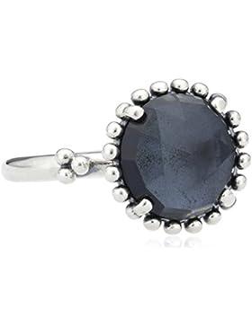 Pandora Damen-Ring strahlende Mitternacht 925 Silber Kristall blau 190910NBC
