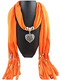 ef212322e5c Amazon.co.uk  Orange - Scarf