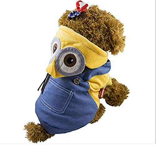 e Decor Center Puppy Kleidung für Welpen, gelber Mann, verwandelt in Haustierkleidung, VIP Welpen Kleidung ()
