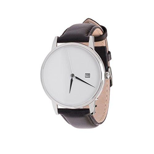 mnmlst men Uhr Analog mit schwarzem Leder Armband