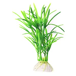 Uxcell Underwater Grass Ornament for Fish Tank, Dark Red/Green