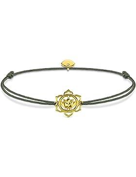 Thomas Sabo Damen-Armband Little Secrets 925 Sterling Silber vergoldet Grau LS014-379-5-L20v