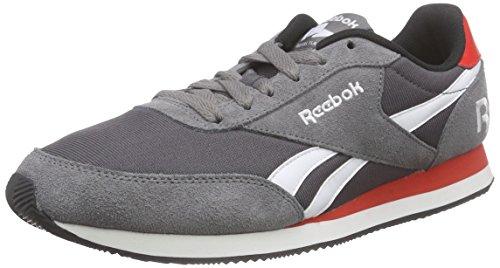 Reebok Royal Classic Jogger 2RS, Scarpe da Corsa Bambino Grigio (Grau (Shark/Ash Grey/White/Motor Red/Black))