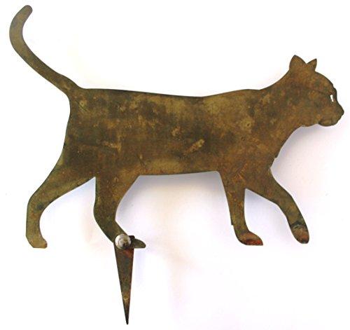 Rasen und Garten Dekoration Zorro, Silhouette der Katze–91004, Rost Farbe Italienisches handwerkliche (Rasen Ideen Dekorationen)