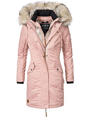 Navahoo Damen Wintermantel Winterparka Daylight Rosa Gr. S