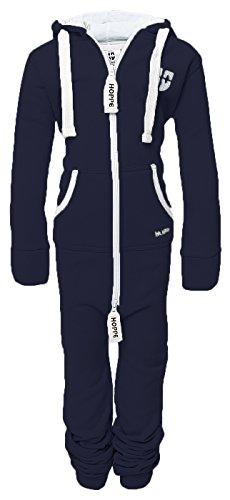 Hoppe Kinder Jumpsuit Overall Jogger Trainingsanzug Mädchen Anzug Jungen Onesie (4-5 Jahre/year, blau)
