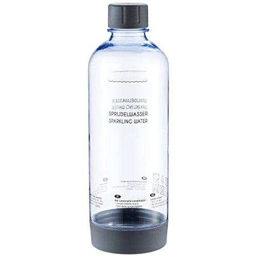 Levivo PET-Flasche mit Schraubverschluss, passend für viele SodaStream Sprudler, Grau, 1.0 Liter – hochwertige Kunststoff Flasche mit Deckel, in mehreren Farben, nicht für Levivo Wassersprudler