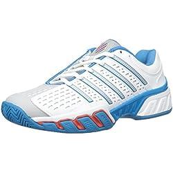 K-Swiss Bigshot 2.5 - Zapatillas para hombre, color blanco / azul / rojo, talla 41.5