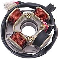 2Takt 50 ccm liegender Minarelli Motor AC//LC 1E40QMB Leeb Xfight-Parts Ankerplatte mit Pick-up aussenliegend 5 Kabel 1x3 und 2x1 Pol Beeline Memory 50