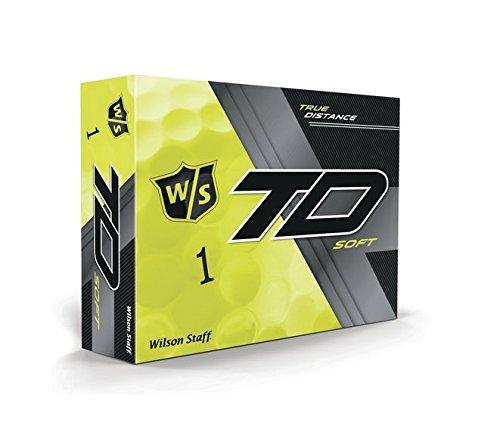 Wilson Staff True Distance Soft gelb Golfbälle, 1 Dutzend, 12 Bälle, Herren