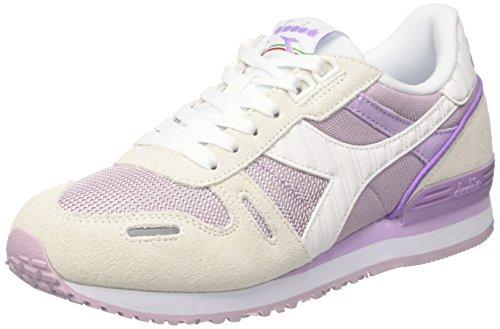 Diadora Titan Ii W, Sneaker Bas du Cou Femme Blanc Cassé (Bianco/viola Orchidea)