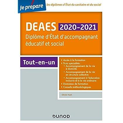 DEAES 2020-2021 - Diplôme d'Etat d'accompagnant éducatif et social - Tout-en-un