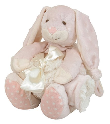 stephan-baby-super-soft-knotty-bunnie-and-bumpy-plush-shaggy-sherpa-security-blanket-set-pink-by-ste