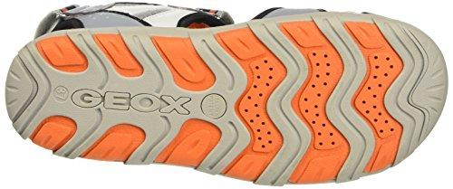Geox Jr Sandal Pianeta B, chaussures à bouts ouverts garçon Grigio (Grey/Orange)