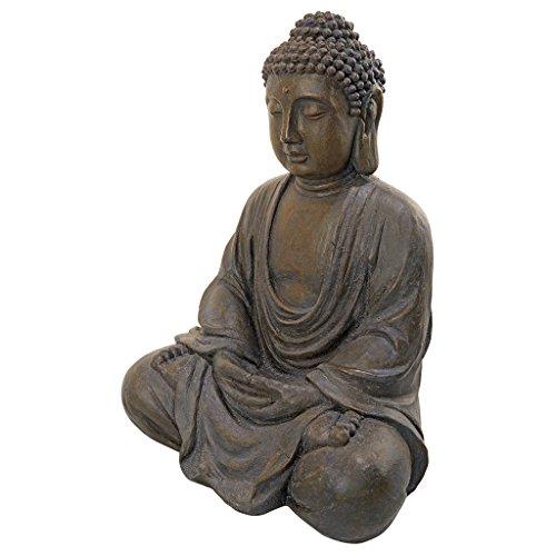 Design Toscano Meditierender Buddha des großen Tempels Mittel - Sitzende Gartenfigur (Buddha Groß)