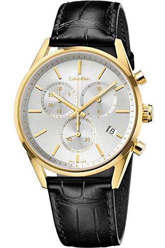Calvin Klein Hommes Chronographe Quartz Montre avec Bracelet en Cuir K4M275C6
