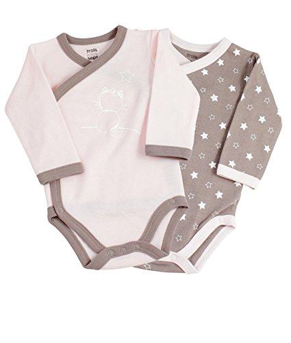 Trois Kilos Sept Baby Mädchen (0-24 Monate) Body 1 Monate