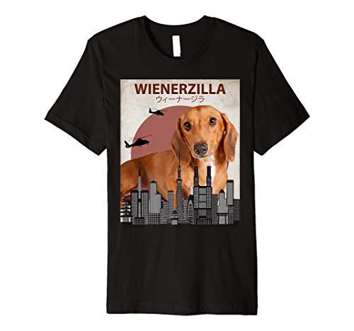 wienerzilla Funny Wiener Hunde-T-Shirt | Dackel Liebhaber Geschenk