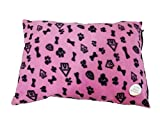 Fleece Removable Cover Puppy Pets Dog Cat Bed Cushion Pillow Mat Large Deluxe (Pink)