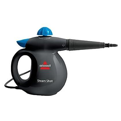 Bissell SteamShot - Limpiador de mano a vapor, Equipo de vapor manual de alta presión, 1000W, 4.5 bar, 0.36 L, Titanio/Azul