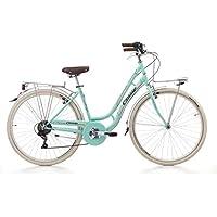 CINZIA MIA Bicicleta de Paseo, Adultos Unisex, Verde, M