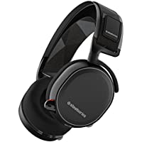SteelSeries Arctis 7, Lag-Free Wireless Gaming Headset, DTS 7.1 Surround for PC, PC / Mac / PlayStation 4 / Android / VR - Black