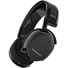 SteelSeries Arctis 7, Lag-Free Wireless Gaming Headset, DTS 7.1 Surround for PC, PC / Mac / PlayStation 4 / Android / iOS / VR - Black