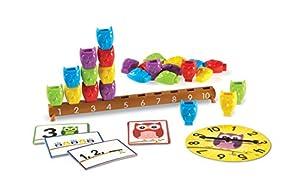 Learning Resources- Set de Actividades de Contar del 1 al 10 con búhos, Color (LER7732)