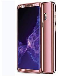 Samsung Galaxy S8/S9 Hüllen, Galaxy S7 Handyhülle 3 in 1 Ultra Dünn Case Hartschale 360 Grad Hart PC Mirror Hülle Spiegel Hardcase Backcover Schutzhülle Schutz Schale für S9 Plus/S8 Plus