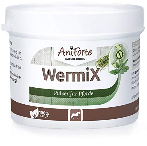 AniForte WermiX Pulver für Pferde und Ponys 50g - Naturprodukt nach Wurmbefall mit Saponine, Bitterstoffe, Gerbstoffe, Wermut, Naturkräuter harmonisieren Magen & Darm