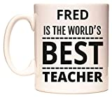 Best Fred & Friends Gift For Brothers - FRED is The World's Best Teacher Mug Review