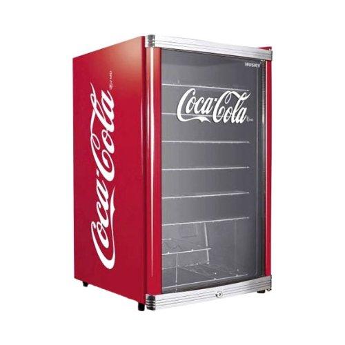 Husky HUS-HC 166 Flaschenkühlschrank Coca-Cola / A+ / 83,5 cm Höhe / 109 kWh/Jahr / 130 L Kühlteil (Kleine Cola Kühlschrank)