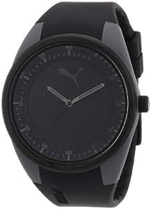 Puma - PU911001003 - Fusion L - Montre Homme - Quartz Analogique - Cadran Noir - Bracelet Plastique Noir