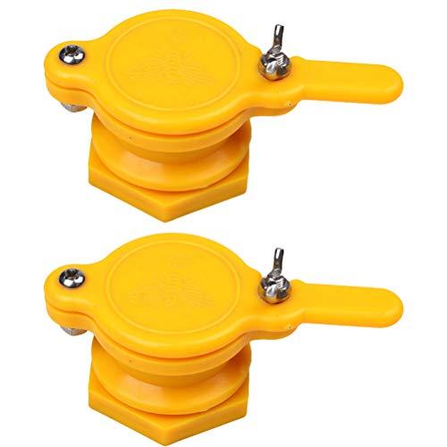 Yardwe 4 STÜCKE Honigschleudern Nylon Honig Absperrschieber Honigschleuder Werkzeug Imkereiausrüstung Werkzeug für Imker Imkerbedarf (Gelb)