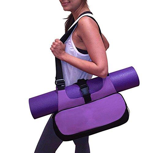 Tutoy Yoga Mat Canvas Bag Multifunktionale Rucksack Schulter Messenger Sport Taschen Für Frauen Fitness-Seesack-Lila