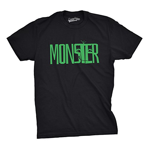 Crazy Dog TShirts - Youth Monster T shirt Funny Matching Tees Hilarious Family Shirts for Kids T shirt (Black) -XL - jungen - (Shirt T Monsters Inc)