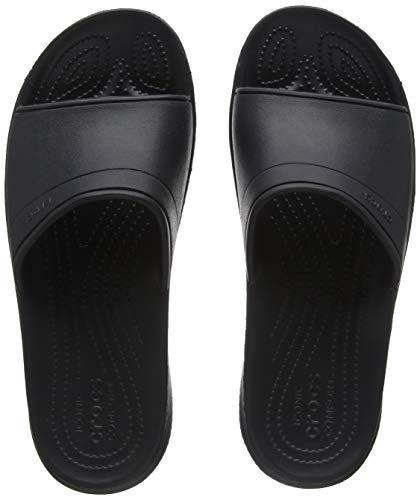 Crocs Classic Slide, Unisex - Erwachsene Sandalen, Schwarz (Black), 48/49 EU