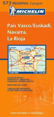 Michelin Map 573 Regional Spain Pais Vasco, Navarra, La Rioja by Michelin (2003-04-06)